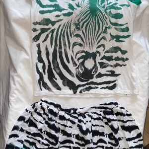 Justice top & skirt, size 12